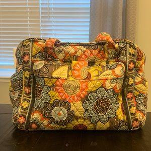 Vera Bradley Flower Shower Diaper Bag Tote.